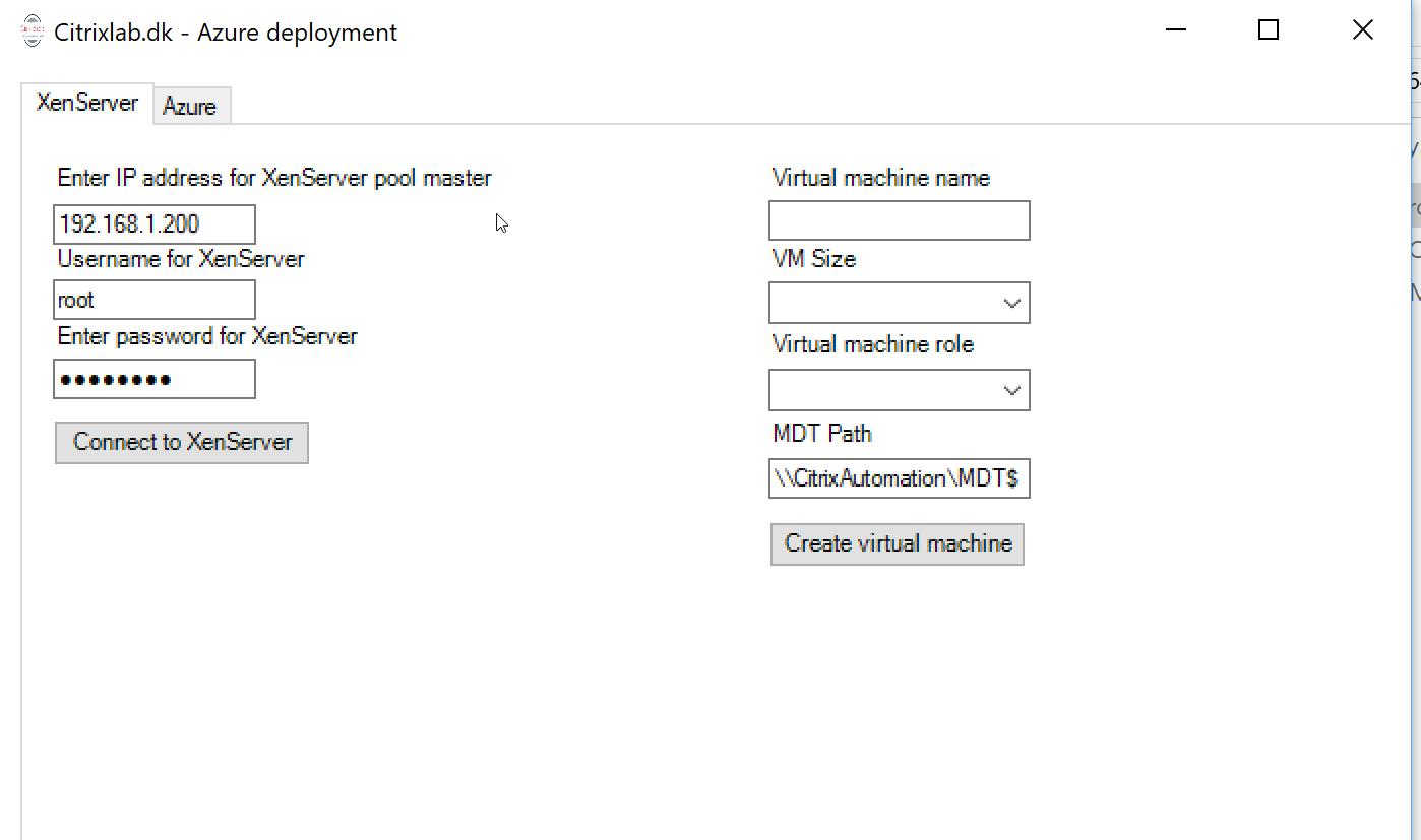 Virtual machine deployment tool – Citrixlab dk
